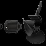 Xcomp Mercury Mariner D 40-140 HP Set + Hub Kit Kanadı Değiştirilebilir Motor Pervanesi 3