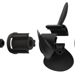 Xcomp Suzuki C 35-65 HP Set + Hub Kit Kanadı Değiştirilebilir Motor Pervanesi 3