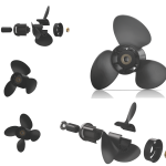 Xcomp Suzuki D 70-140 HP Set + Hub Kit Kanadı Değiştirilebilir Motor Pervanesi 2